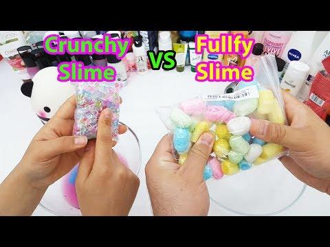 Crunchy Slime Vs Fluffy Slime - En Güzel Slime Challenge