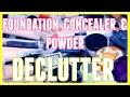 HUGE FOUNDATION, CONCEALER, & POWDER MAKEUP DECLUTTER   MAKEUP DECLUTTER SERIES   2017