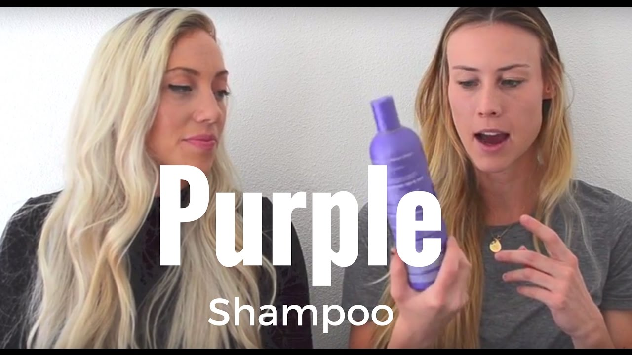 Purple Shampoo Get Brassy Yellow Tones Out Of Your Hair Youtube