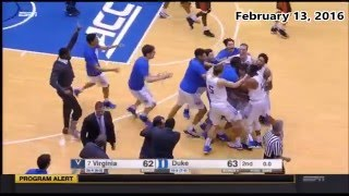 College Basketball (2015-2016) Buzzer Beaters