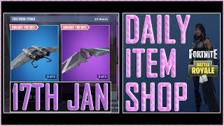 Fortnite: Daily Item Shop (17th Jan 2019) FATE & VERGE Featured Skin - Battle Royale New Items