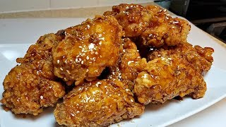 Crunchy Korean Fried Chicken Recipe | Honey Garlic Glazed Chicken Wings | Fried Chicken Recipe