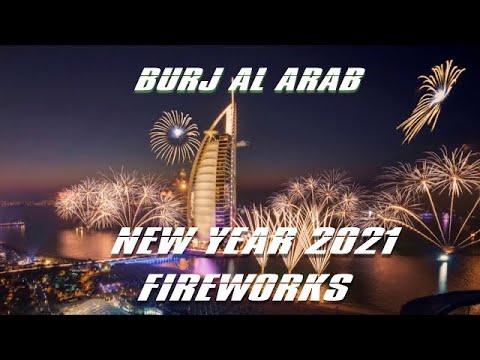 New Year 2021 Fireworks 💥   Burj Al Arab