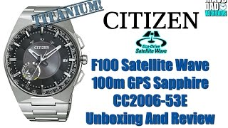 GPS Wow! | Citizen F100 Satellite Wave 100m GPS CC2006-53E, CC2004-08E & CC2004-59E Unbox & Review