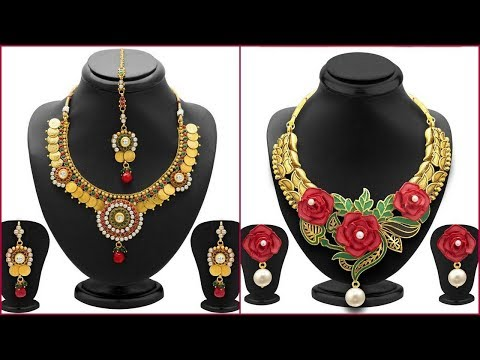1 Gram Gold Traditional Jewelry Set with Price  | Fashion Fiesta