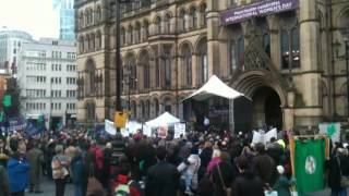 Shadow Health Sec Andy Burnham MP speech at Drop The Bill Rally in Manchester - Part 1 of 2