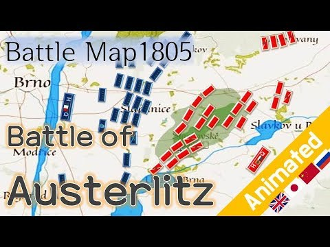(Battle Map)the battle of Austerlitz_1805 Napoleon war