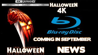 #JOHNCARPENTER HALLOWEEN GETS A 4K BLU-RAY RELEASE IN SEPTEMBER MOVIE NEWS.