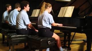 Bach- Sonata No. 3, BWV 527, for two pianos, III. Vivace