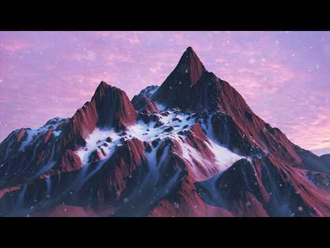 TIMELAPSE | Snowy Mountains. (World Machine, Cinema4D.)