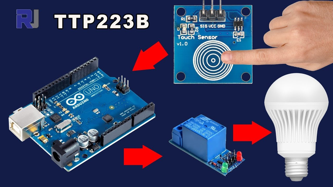 using ttp223b touch module and relay to control ac dc load withusing ttp223b touch module and relay to control ac dc load with arduino