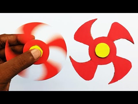 Paper Fidget Spinner - How to make a Paper Ninja Fidget Spinner without Bearings at Home