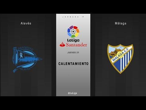 Calentamiento Alavés vs Málaga