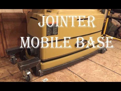 Homemade jointer mobile base