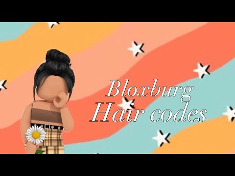 10 Bloxburg Hair Codes Youtube