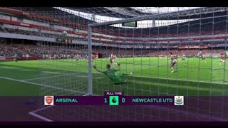FIFA 19 career mode Arsenal vs Newcastle United highlights