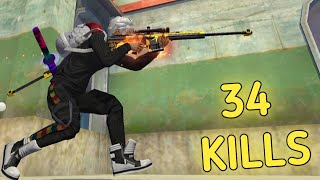 34 squad kills on GRANDMASTER regional TOP 5|| with new time travellers  M82B 🔥 !!!!