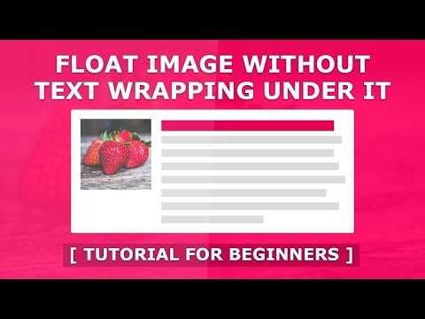 Online Tutorial for Float an Image Without Text Wrapping in CSS With Demo thumbnail