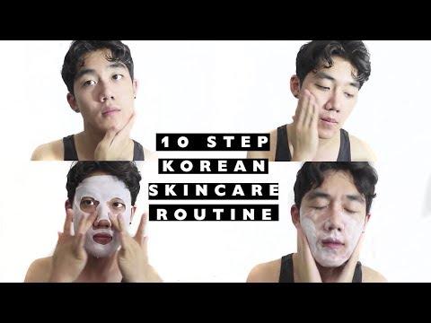 10 STEP KOREAN SKINCARE ROUTINE | Brute Choi