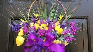 DIY Easter Basket Wreath