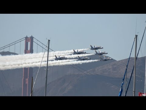 Blue Angels .. San Francisco Fleet Week 2017 (4K)