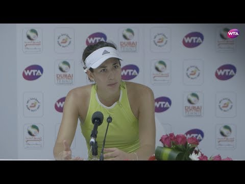 2018 Dubai press conference: Garbiñe Muguruza 'I struggled physically'