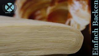 Plunder Croissant Teig selber machen - Grundrezept