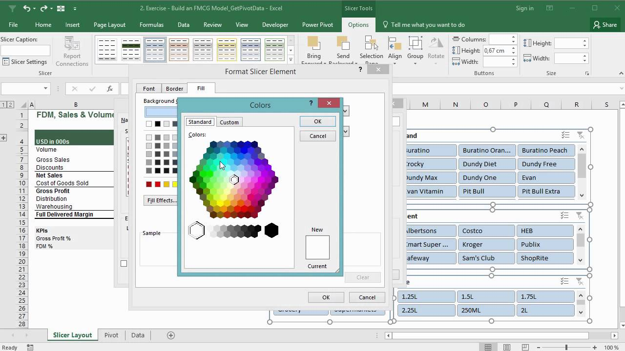 Create Great Looking Excel Slicers: Professional Slicer Formatting