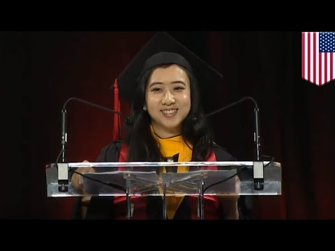 Shuping Yang commencement speech: Grad trolls all of China with Maryland speech - TomoNews