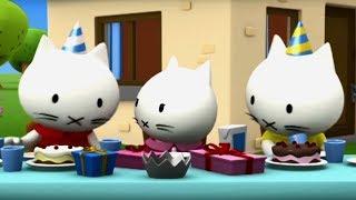 Котёнок Мусти - Лето с котенком Мусти - Все серии подряд - развивающие мультики для малышей