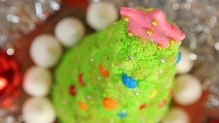 Новогодние рецепты. Торт Ёлочка. Весёлый Поварёнок №8