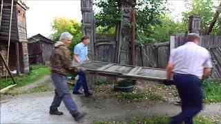 видео Распашные ворота для коттеджа в Троицке