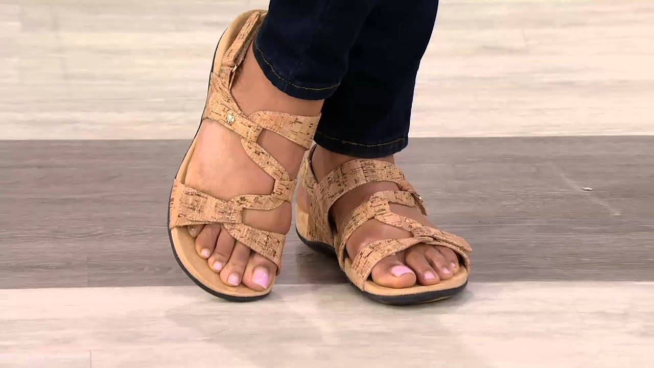 6830858b7133 Vionic Orthotic Sandals with Backstrap - Paros on QVC - YouTube
