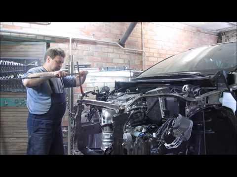 Toyota Rav 4. The front repair of the car. Ремонт переда машины.