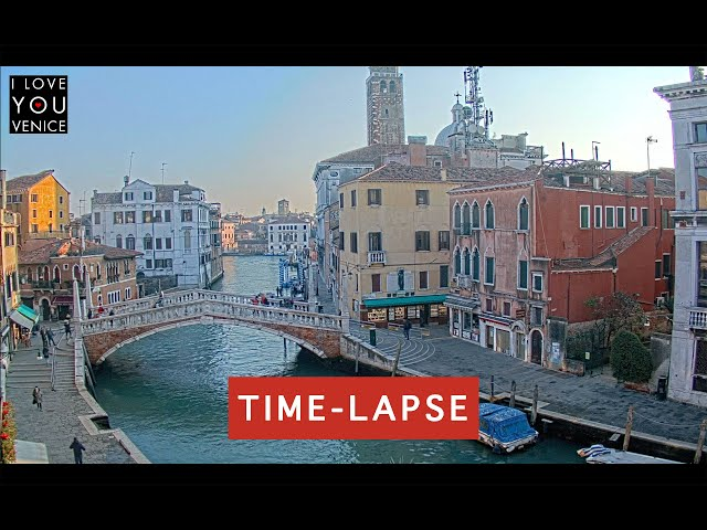 Guglie Bridge Timelapse - Venice in Motion