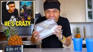 Myth Reacts to EATING my DIAMOND PLAY BUTTON!! (Matt Stonie)
