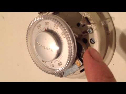 DIY Honeywell t 87 thermostat mercury bulb