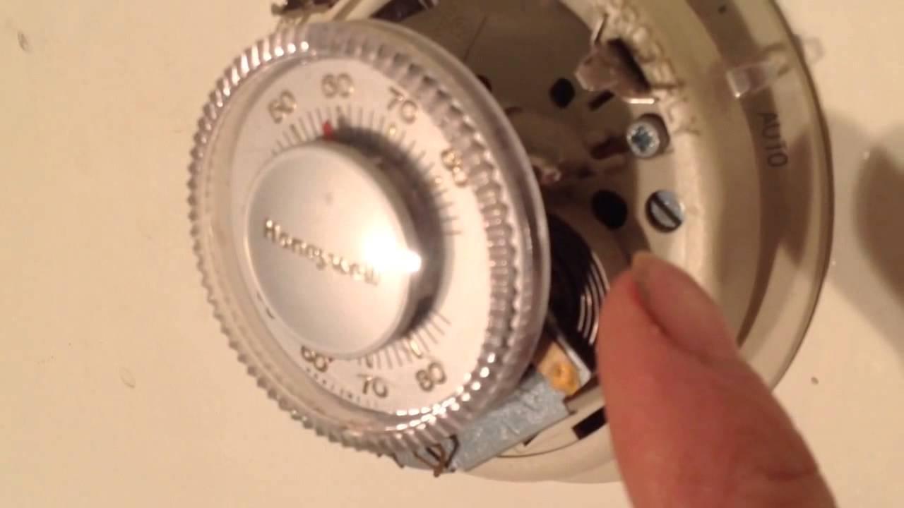 small resolution of old honeywell round thermostat wiring wiring diagram updatediy honeywell t 87 thermostat mercury bulb youtube honeywell