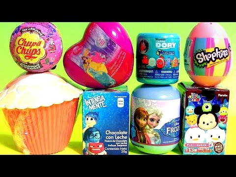 Cupcake Surprise Princess Anna Disney Frozen Shopkins Egg Disney Tsum Tsum Chupa Chups Peppa Pig