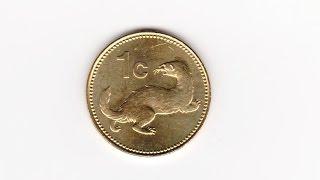 монеты Фауна, 1 цент Мальта 2004, Ласка домашнее животное для ловли мышей(, 2016-08-31T17:57:37.000Z)
