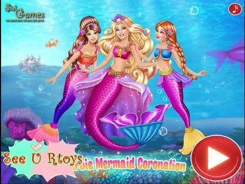 ❤บาบี้แต่งเป็นนางเงือก Barbie Mermaid Coronation ❤