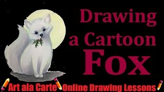How to draw an Arctic Fox Plus Greeting Card Challenge Showcase