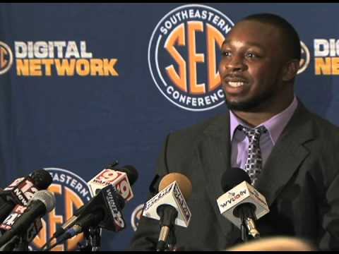 Florida LB Lerentee McCray at SEC Media Days