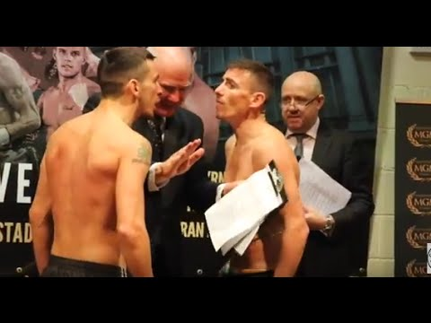 PETER McDONAGH v DEAN BYRNE PULLED APART DURING FACE OFF @ OFFICIAL WEIGH IN / SECOND COMING