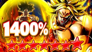 (Dragon Ball Legends) ZENKAI 7, 1400%, 14 STAR GRN LSSJ BROLY IN RANKED PVP! MOVIES MAKE A COMEBACK?