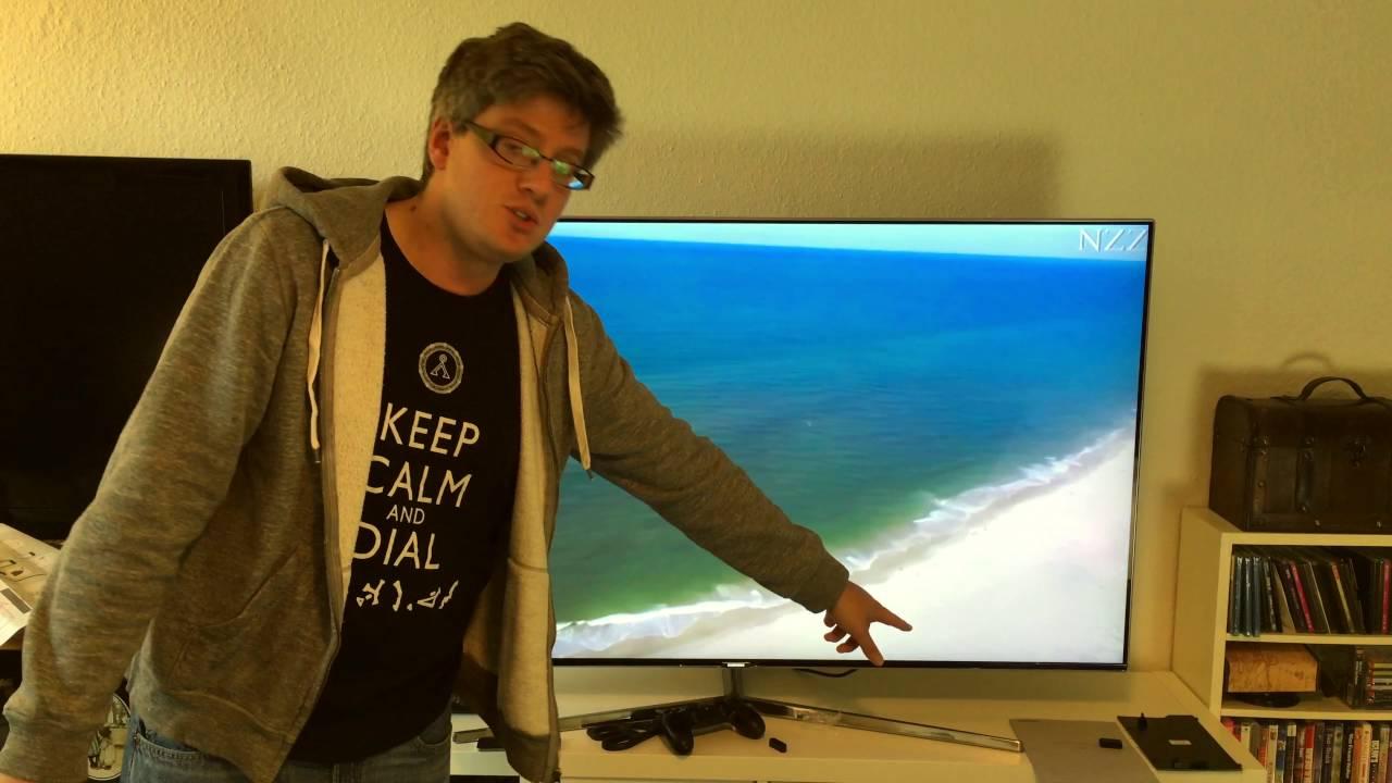 samsung ks8090 4k suhd fernseher einrichten und erster eindruck youtube. Black Bedroom Furniture Sets. Home Design Ideas
