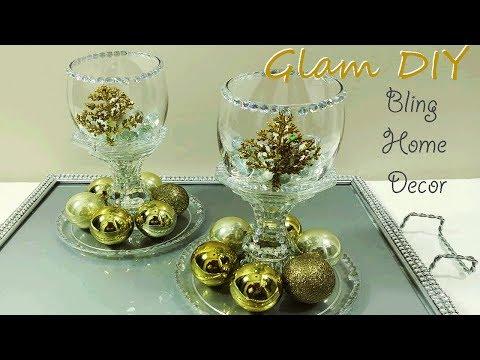 Dollar Tree DIY Glam Bling Tealight Holders Glam Holiday Decor