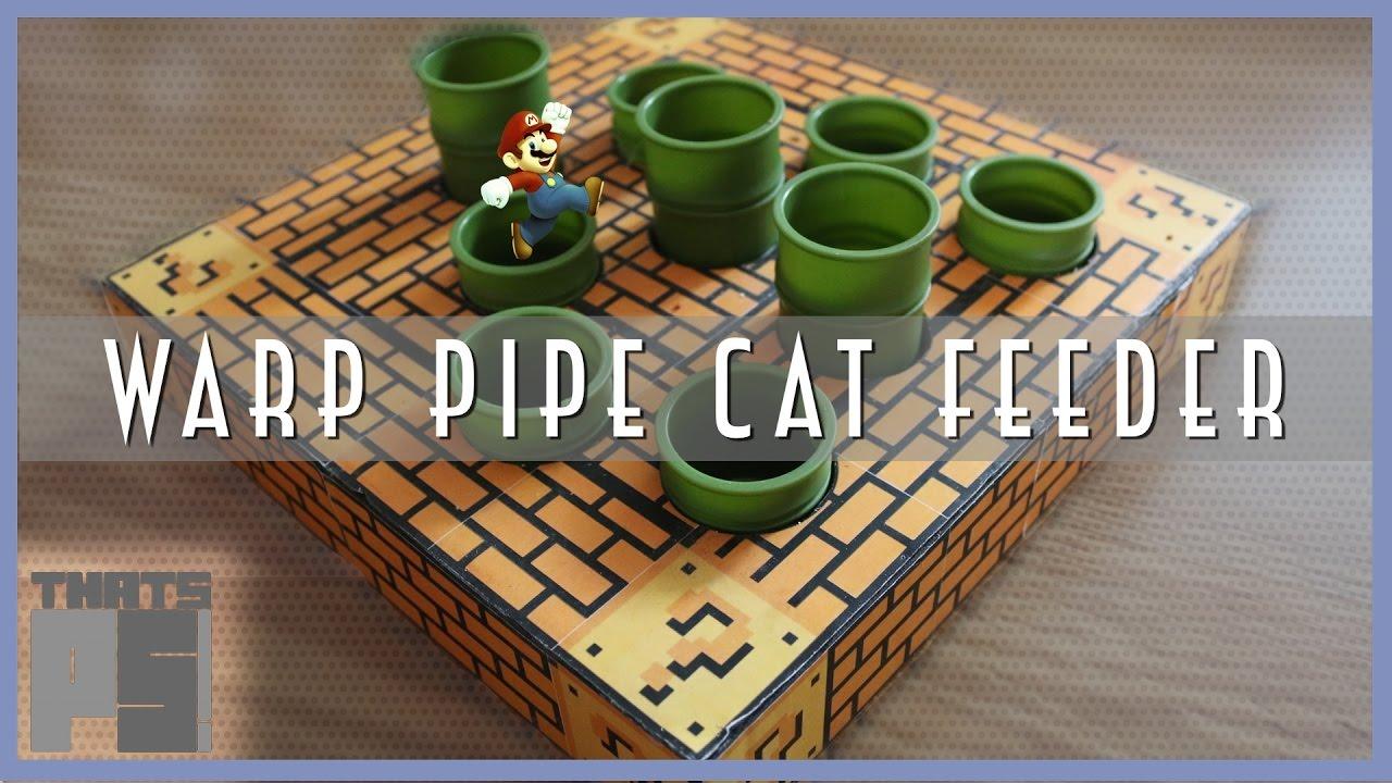 Warp Pipe Cat Feeder - Super Mario Bros - Nerd Crafting