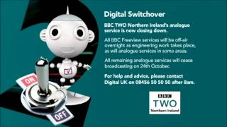 BBC TWO Northern Ireland - Final analogue closedown