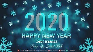Happy New Year 2020 Wallpaper Card Poster Design Photoshop Tutorial BOSS GFX